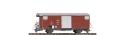 Bemo 2250254, $ $ MGB Gbv 4444 ged. Güterwagen Gbv 4444 rot MGB