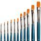Flat brush, synthetic, size 12