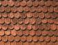 Dachplatte Biberschwanz, 39 x 29 cm
