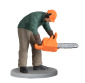 H0 Waldarbeiter mit Kettensäge, bewegt