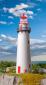H0 Leuchtturm mit LED-Leuchtfeuer, Funktionsbausatz