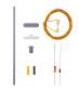 H0 Bausatz Bahnsteigleuchte, LED weiss