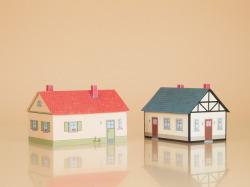 $ $ Wohnhäuser Bastelbogen aus Karton
