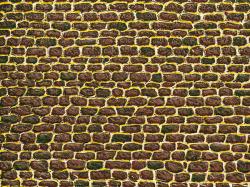 Irregular cut stone wall single