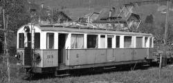 MOB ABFe 4/4 15 Triebwagen grau/beige mit MOB