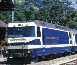 MOB Ge 4/4 8001 electric loco blue/cream digital