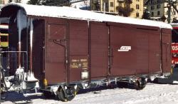 RhB Gbk-v 5544 track cleaning box car