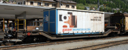 "RhB Sbk-v 7701 flat car with container ""Gasser"""