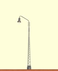 H0 LED-Gittermastleuchte Stecksockel, einzeln