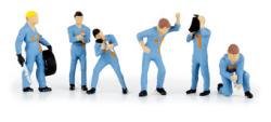 Figurenset Boxencrew hellblaues Team von Noch