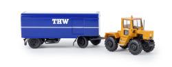 """MB trac mit Paketanhänger """"THW"""" von Starmada"""