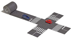 N-Straße, Kreuzung, Autos