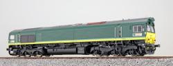Diesellok H0, C66 RheinCargo DE 62, Ep VI, Vorbildzustand um 2018, Silber,  Sound+Rauch, DC/AC