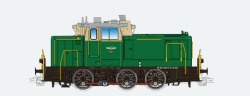 Diesellok, H0, BR V60, 360 123, orientrot, DB Ep. IV, Vorbildzustand um 1992, LokSound, Raucherzeuger, Rangierkupplung, DC/AC