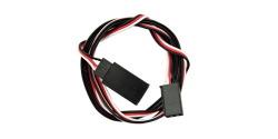 Servo extension cable: 3-pole J/R plug on J/R / Futaba socket, length: 75cm