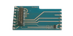 Adapter board L-shape as 6090x, with AUX3+AUX4, for LokSound V3.5, LokPilot V3.0 with 21MTC