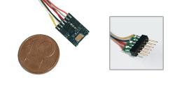 $ LokPilot micro V4.0, Multiprotokolldecoder MM/DCC/SX, mit 6-poligem Stecker NEM 651 mit Kabelbaum