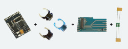 $ LokPilot Digitalset 21MTC, LokPilot V4.0 M4 64614 (MM/DCC/SX/M4), PCBA 51968, Magnet 51962,   Entstördrosseln
