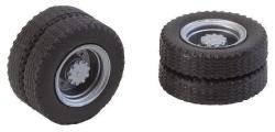 2 wheels (twin tyres) tyres and lorry rims