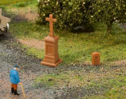 Wayside cross and boundary stone