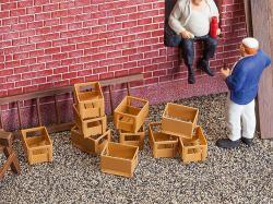 10 Crates, empty