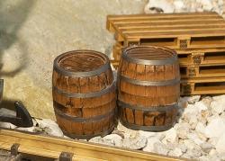 2 Wooden barrels