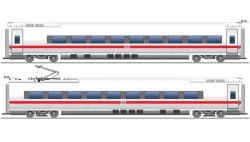 Ergänzungsset 1, ICE BR 407. DB AG, 2-tlg., LED-Innenbeleuchtung, AC