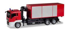 Minikit MAN TGS L Wechsellader-LKW mit Kran Feuerwehr