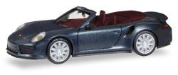 Porsche 911 Turbo Cabrio, tiefschwarzmetallic
