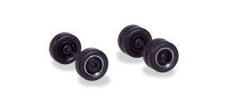 Zubehör Radsätze für Zugmaschinen mit Breitreifen, schwarz mit Chromring (4 Satz)