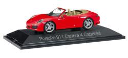 Porsche 911 Carrera 4 Cabriolet, indischrot