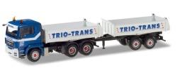 MAN TGS Tandem-Baukipper-Hängerzug Trio-Trans