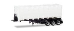 30 ft. Bulkcontainer-Auflieger, Chassis schwarz