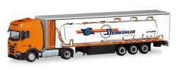 Scania CR HD Gardinenplanen-Sattelzug Steinkühler