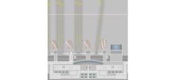 Zentralbereich / Central Plaza Munich Airport Cardboard Concept