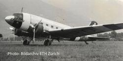 Douglas DC-3 Swissair - neutrality color scheme