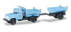 ZIL 130 Muldenkipper-Hängerzug, blau