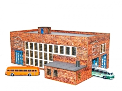 Busdepot inkl. 2x MB O66600 Nordsee / Werkstatt