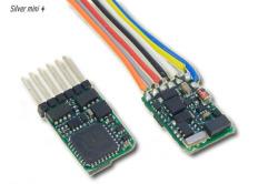 Lokdecoder Silver mini + 0,5 / 0,8A, mit SUSI-Schnittstelle und St. NEM 651