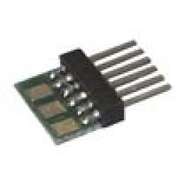 LY015 6-pol. Stecker für NEM651 zum Anlöten v. Kabeln