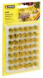 Grasbüschel blühend, gelb 6mm, gelb veredelt, 42 Stück