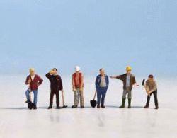 Bauarbeiter, 6 Figuren