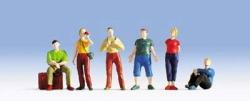 Jugendliche Reisende, 6 Figuren