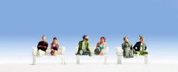 Fahrgäste ohne Fuß, 6 Figuren