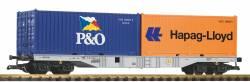 G-Containertragwagen mit 2 Containern DB AG VI
