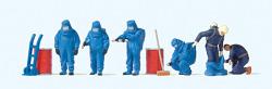 Feuerwehrmänner.Blauer Volls