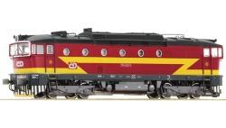 Diesellok Rh 754 rot,gelb