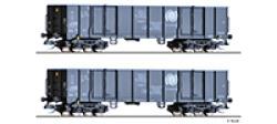 Güterwagenset der CTL Logistics (PL), bestehend aus zwei offenen Güterwagen Eaos, Ep. V