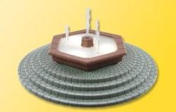H0 Mehrstrahliger Zierbrunnen mit LED-Beleuchtung, bewegt - ersetzt 5016