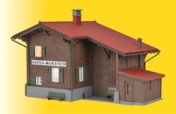 $$ H0 Bahnhof Davos-Monstein inkl. Hausbeleuchtungs-Startset, Funktionsbausatz
